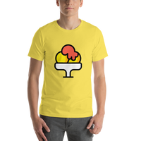 Emoji T-Shirt Store | Shaved Ice emoji t-shirt in Yellow