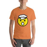 Emoji T-Shirt Store | Exploding Head emoji t-shirt in Orange