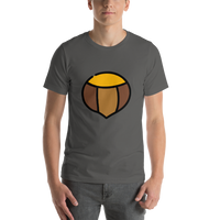 Emoji T-Shirt Store | Chestnut emoji t-shirt in Dark gray
