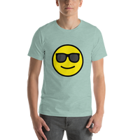 Emoji T-Shirt Store | Smiling Face With Sunglasses emoji t-shirt in Green