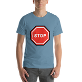 Emoji T-Shirt Store | Stop Sign emoji t-shirt in Blue