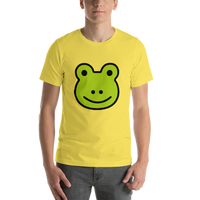 Emoji T-Shirt Store | Frog emoji t-shirt in Yellow