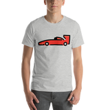 Emoji T-Shirt Store | Racing Car emoji t-shirt in Light gray