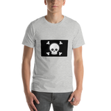 Emoji T-Shirt Store | Pirate Flag emoji t-shirt in Light gray