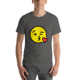 Emoji T-Shirt Store | Face Blowing A Kiss emoji t-shirt in Dark gray