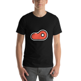 Emoji T-Shirt Store | Cut Of Meat emoji t-shirt in Black