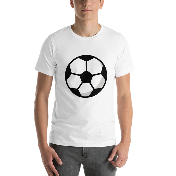 Emoji T-Shirt Store | Soccer Ball emoji t-shirt in White