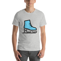 Emoji T-Shirt Store | Ice Skate emoji t-shirt in Light gray