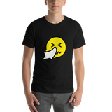 Emoji T-Shirt Store | Sneezing Face emoji t-shirt in Black