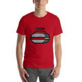 Emoji T-Shirt Store | Curling Stone emoji t-shirt in Red