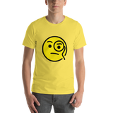 Emoji T-Shirt Store | Face With Monocle emoji t-shirt in Yellow