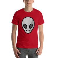 Emoji T-Shirt Store | Alien emoji t-shirt in Red
