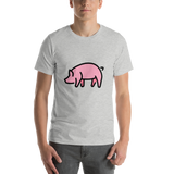 Emoji T-Shirt Store | Pig emoji t-shirt in Light gray