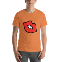 Emoji T-Shirt Store | Kiss Mark emoji t-shirt in Orange