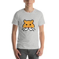 Emoji T-Shirt Store | Hamster emoji t-shirt in Light gray