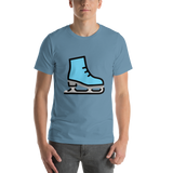 Emoji T-Shirt Store | Ice Skate emoji t-shirt in Blue