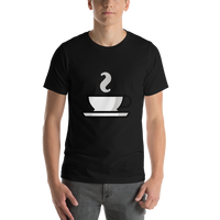 Emoji T-Shirt Store | Hot Beverage emoji t-shirt in Black