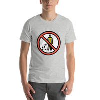 Emoji T-Shirt Store | No Littering emoji t-shirt in Light gray