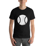 Emoji T-Shirt Store | Baseball emoji t-shirt in Black