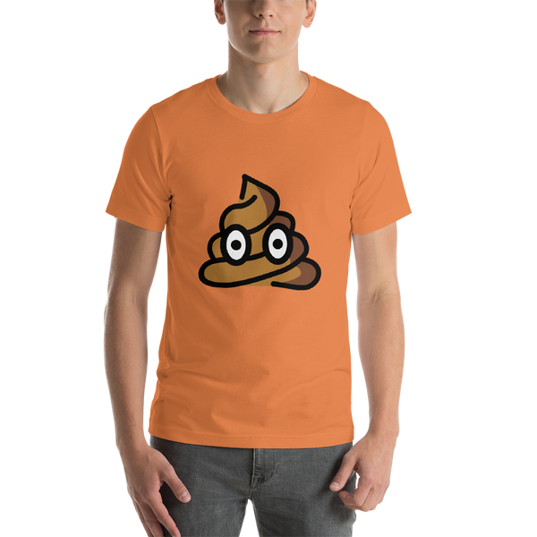 Emoji T-Shirt Store | Pile Of Poo emoji t-shirt in Orange