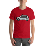 Emoji T-Shirt Store | Police Car emoji t-shirt in Red
