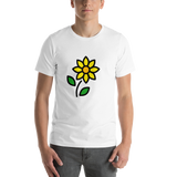 Emoji T-Shirt Store | Sunflower emoji t-shirt in White