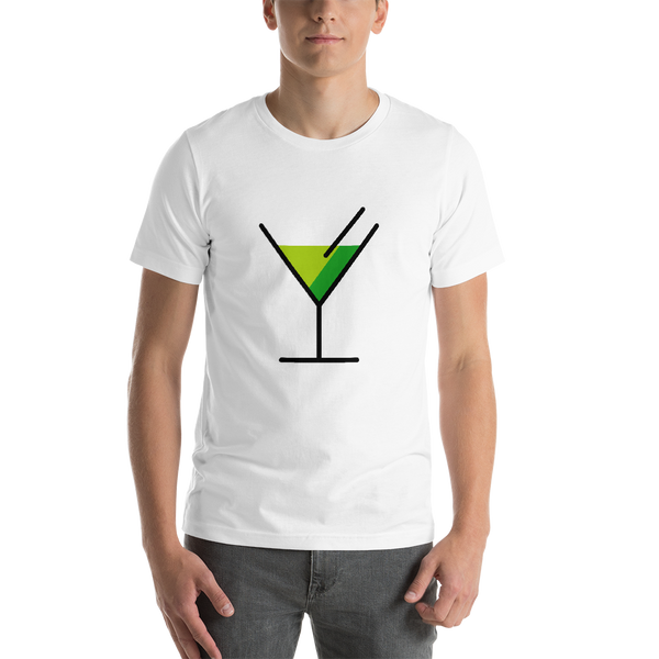 Emoji T-Shirt Store | Cocktail Glass emoji t-shirt in White