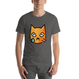 Emoji T-Shirt Store | Crying Cat emoji t-shirt in Dark gray