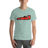 Emoji T-Shirt Store | Racing Car emoji t-shirt in Green