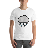 Emoji T-Shirt Store | Cloud With Rain emoji t-shirt in White