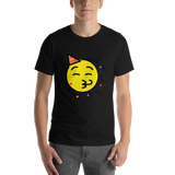 Emoji T-Shirt Store | Partying Face emoji t-shirt in Black