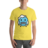 Emoji T-Shirt Store | Cold Face emoji t-shirt in Yellow