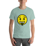 Emoji T-Shirt Store | Money-Mouth Face emoji t-shirt in Green
