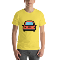 Emoji T-Shirt Store | Oncoming Automobile emoji t-shirt in Yellow