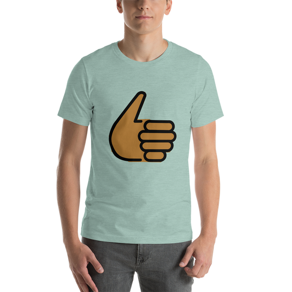 Emoji T-Shirt Store | Thumbs Up, Medium Dark Skin Tone emoji t-shirt in Green