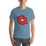 Emoji T-Shirt Store | Kiss Mark emoji t-shirt in Blue