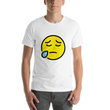 Emoji T-Shirt Store | Sad But Relieved Face emoji t-shirt in White