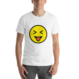 Emoji T-Shirt Store | Squinting Face With Tongue emoji t-shirt in White