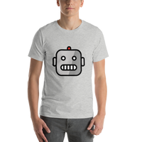 Emoji T-Shirt Store | Robot emoji t-shirt in Light gray