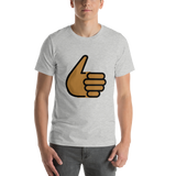 Emoji T-Shirt Store | Thumbs Up, Medium Dark Skin Tone emoji t-shirt in Light gray