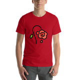 Emoji T-Shirt Store | Wilted Flower emoji t-shirt in Red