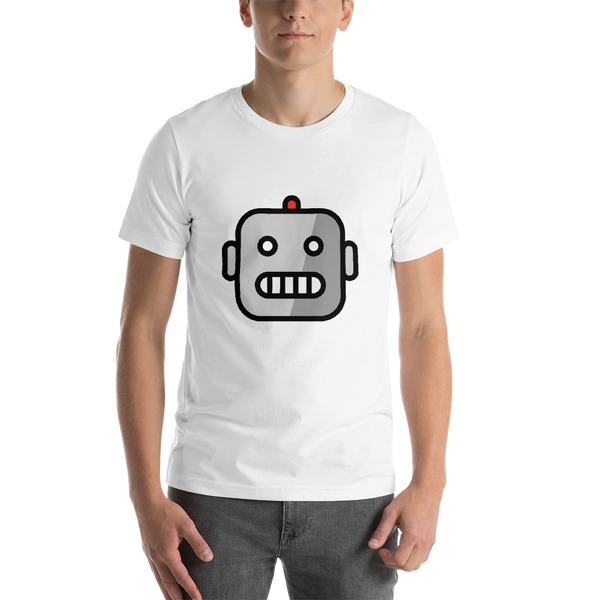 Emoji T-Shirt Store | Robot emoji t-shirt in White