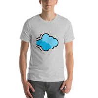 Emoji T-Shirt Store | Dashing Away emoji t-shirt in Light gray