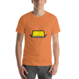 Emoji T-Shirt Store | Butter emoji t-shirt in Orange