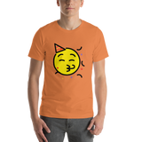 Emoji T-Shirt Store | Partying Face emoji t-shirt in Orange