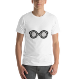 Emoji T-Shirt Store | Glasses emoji t-shirt in White