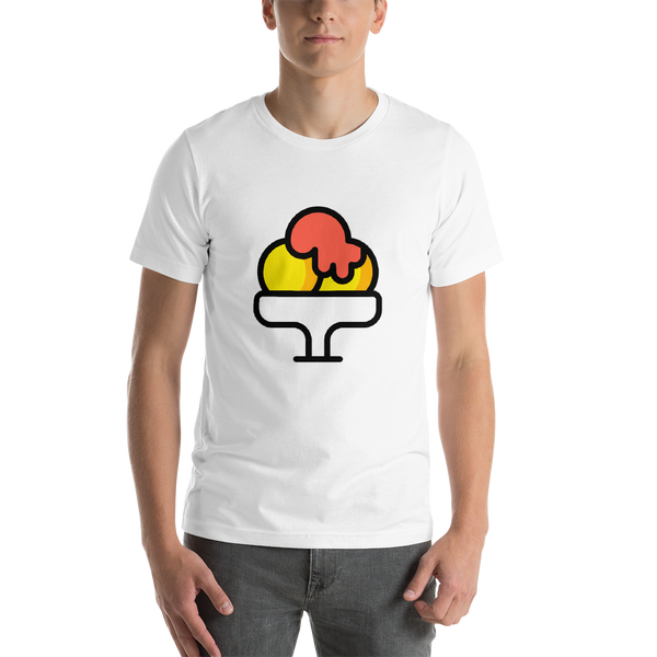 Emoji T-Shirt Store | Shaved Ice emoji t-shirt in White