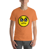 Emoji T-Shirt Store | Pleading Face emoji t-shirt in Orange