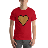 Emoji T-Shirt Store | Brown Heart emoji t-shirt in Red
