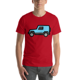 Emoji T-Shirt Store | Sport Utility Vehicle emoji t-shirt in Red